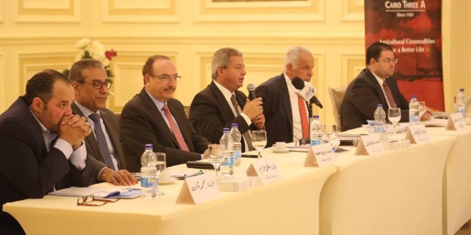 """وزير الشباب والرياضة يشهد جلسة """"مستقبل الاستثمار الرياضي"""" ضمن فعاليات مؤتمر أخبار اليوم الاقتصادي"""
