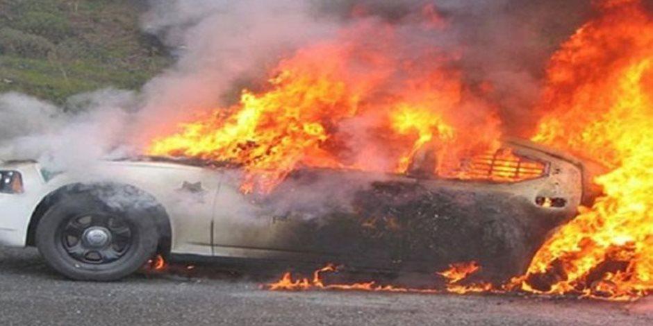 السيطرة على حريق مخلفات على طريق الأوتوستراد