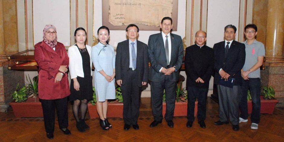 اتفاقيات تعاون بين جامعتي عين شمس وساستيك الصينية