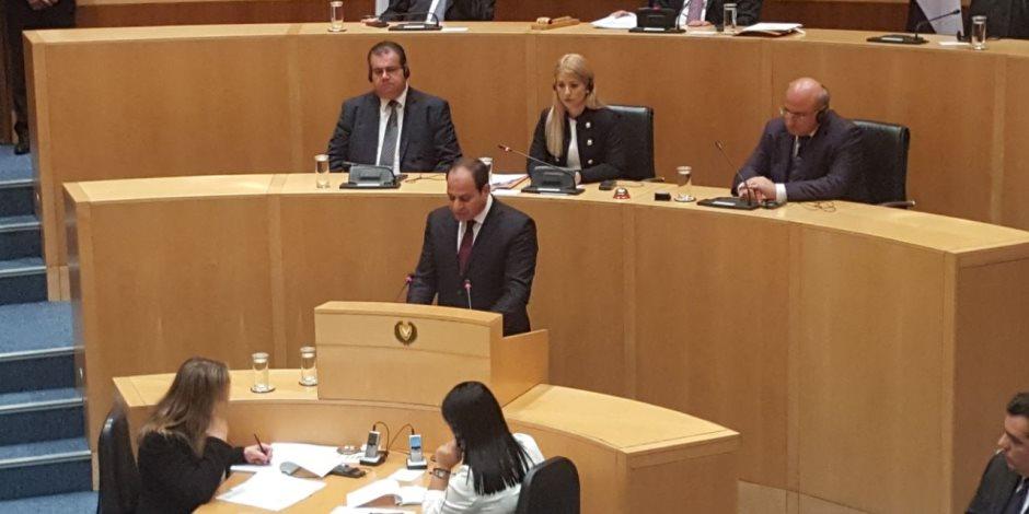 كلمة الرئيس السيسي في البرلمان القبرصي (بث مباشر) (صور)