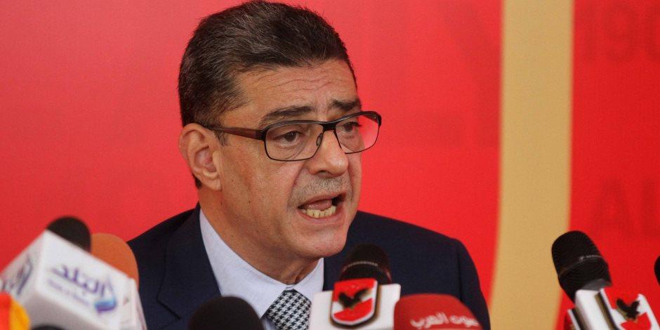 """محمد إلباز يعلن دعمه لـ """"محمود طاهر"""": أتمنى من الخطيب أن يترك الإدارة لأهلها (فيديو)"""