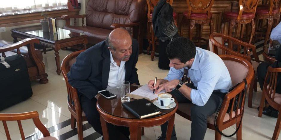 تزامنا مع زيارة السيسي.. اجتماع لرجال الأعمال المصريين في قبرص (صور)