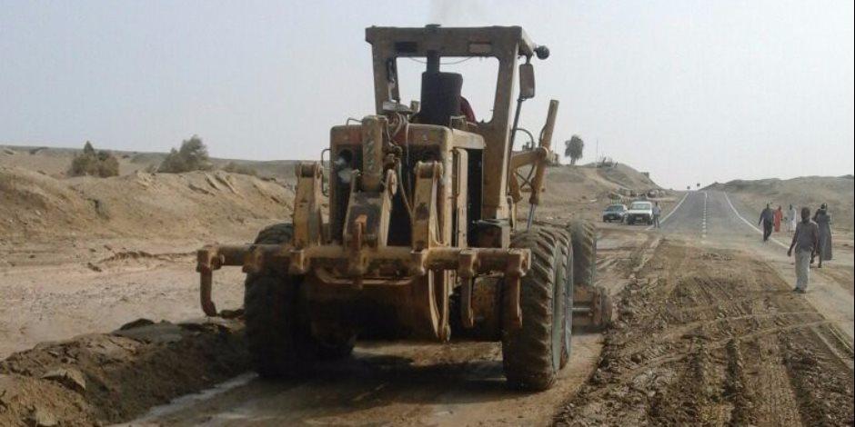 تحويلات مرورية بسبب سيول ضربت طريق «الزعفرانة - العين السخنة» لمنع الحوادث