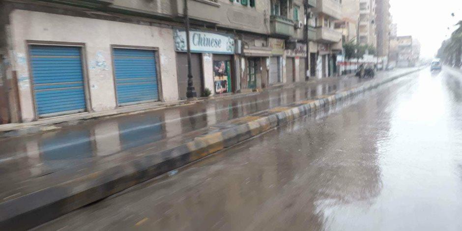أمطار غزيرة بمدن ومراكز محافظة البحيرة