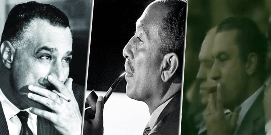 كيف الرؤساء والمشاهير.. من سيجارة عبد الناصر إلى بايب السادات (صور)