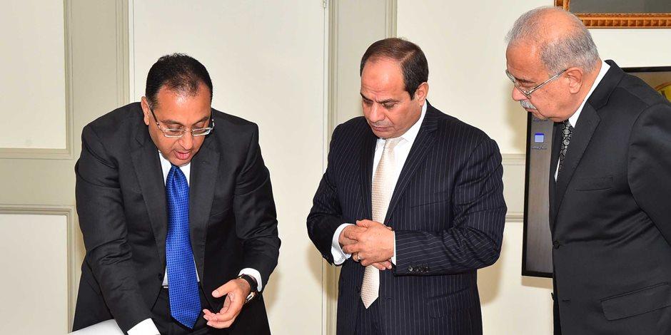 رسميا.. السيسي يصدر قرارا بتولي مصطفى مدبولي مهام رئيس الوزراء