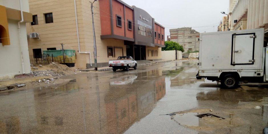 سقوط أمطار متوسطة بشمال سيناء ورفع درجة الاستعداد بغرفة العمليات
