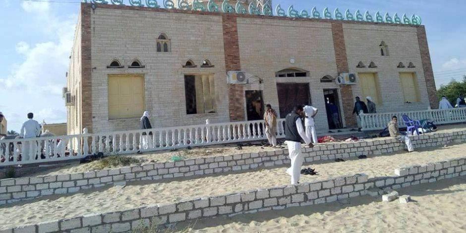 تفاصيل 11 ساعة بدأت بأذان.. مسجد الروضة يعاني الإرهاب (تايم لاين)