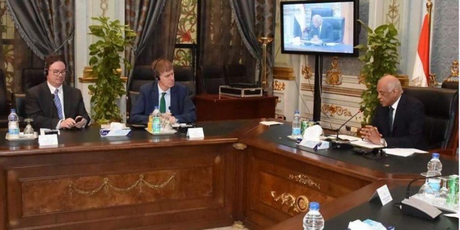 تفاصيل لقاء علي عبد العال مع وفد البرلمان البريطاني (صور)