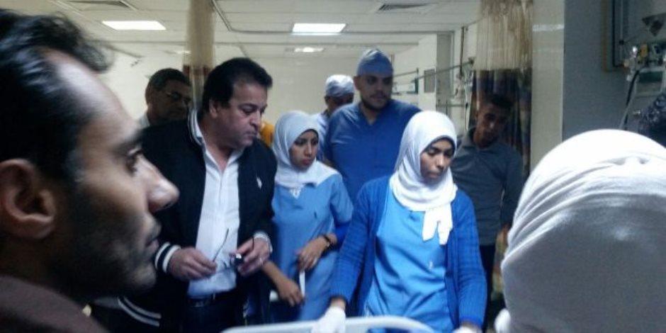وزير التعليم العالي يعلن حصيلة العمليات الجراحية لمصابي حادث مسجد الروضة (صور)