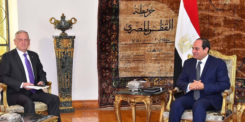 وزير الدفاع الأمريكي يؤكد للسيسي دعم بلاده لمصر في الحرب على الإرهاب