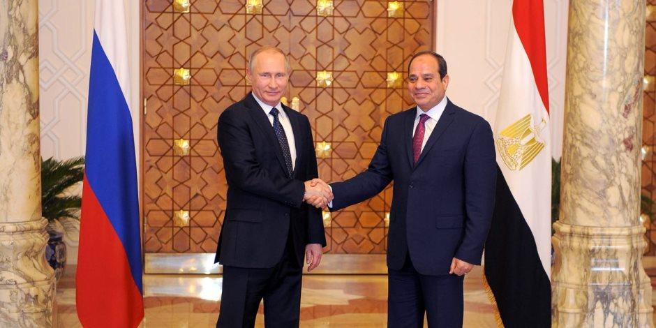 الرئيس السيسي يهنئ فلاديمير بوتين لإعادة انتخابه رئيساً لروسيا