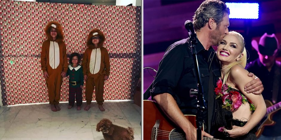 """""""جوين ستيفانى"""" و""""بليك شيلتون"""" يفاجئان أطفالهم بهدايا الكريسماس (فيديو)"""