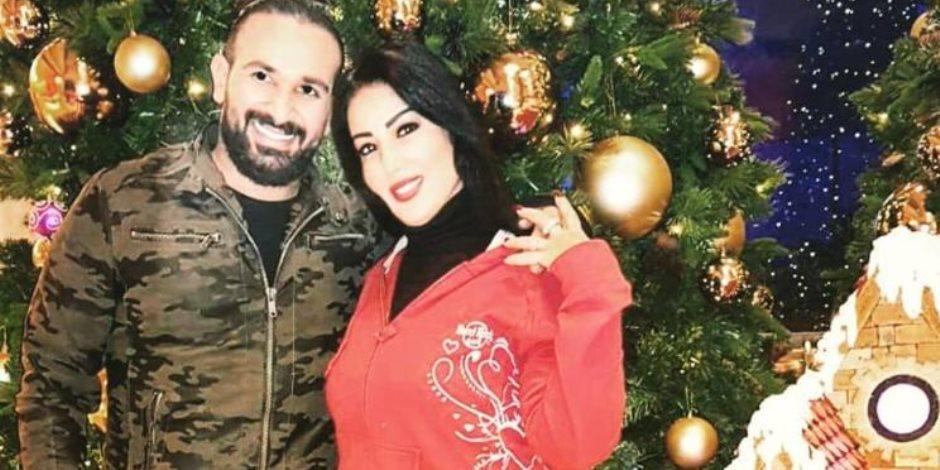 أحمد سعد يحتفل بالعام الجديد مع سمية الخشاب
