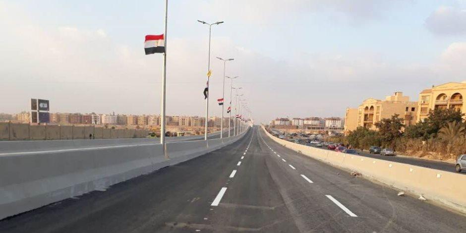 مدبولى وعد فأوفى ..كوبرى محمد نجيب بالقاهرة الجديدة يستعد للتشغيل(صور)