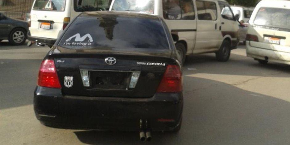 صورة جنسية على سيارة ملاكي تثير غضب المواطنين بالدقهلية