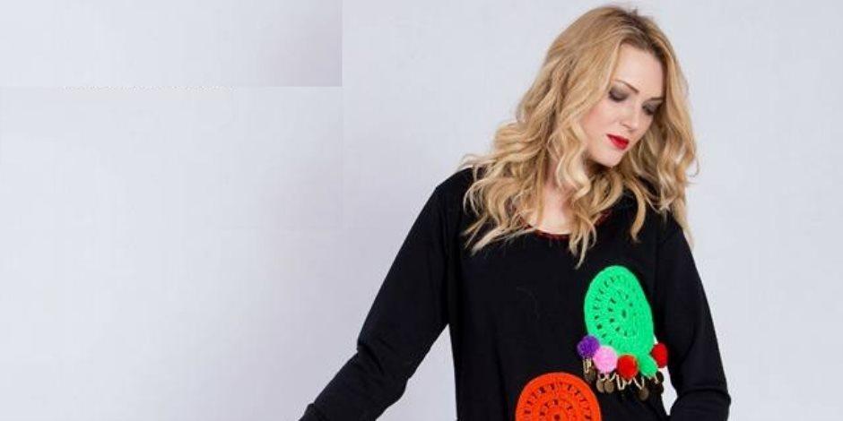 رانيا يوسف تقدم موديلات وأزياء تأخذ من الطبيعة والألوان أحلى ما لديها
