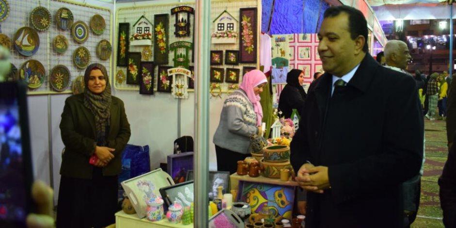 """والي: افتتاح """"ديارنا"""" في الأقصر بمشاركة 40 عارضا لتنشيط مبيعات الأسر المنتجة (صور)"""