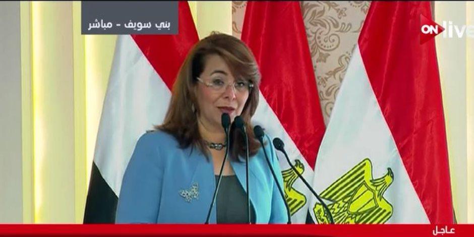 وزيرة التضامن الاجتماعي: برامج صحية واجتماعية لسكان مشروعي أهالينا والمحروسة