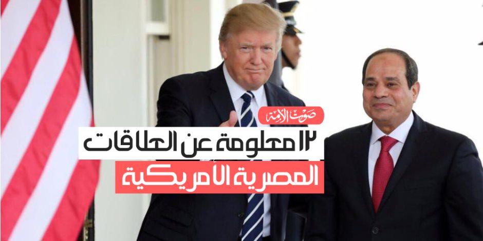 12 معلومة عن العلاقات المصرية الأمريكية (فيديوجراف)