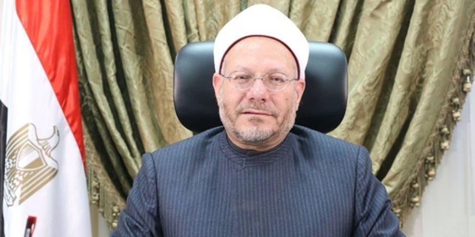 مفتي الجمهورية ينعى الشيخ معوض إبراهيم أكبر معمر أزهري