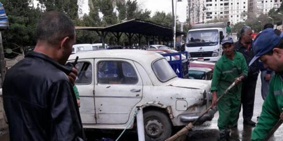 محافظة القاهرة تدفع بشفاطات بمنازل ومطالع الكباري لتفادي تجمعات المياه