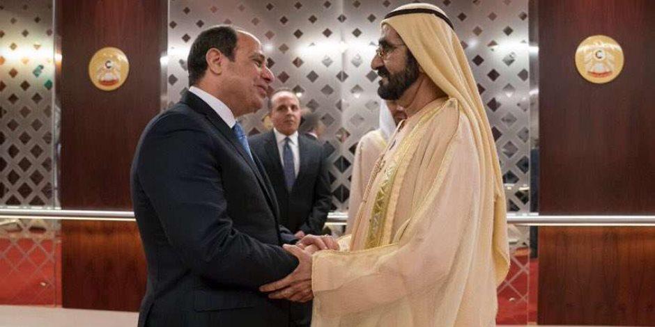 السيسي يبحث مع محمد بن راشد ومحمد بن زايد عددا من القضايا المشتركة في أبو ظبي