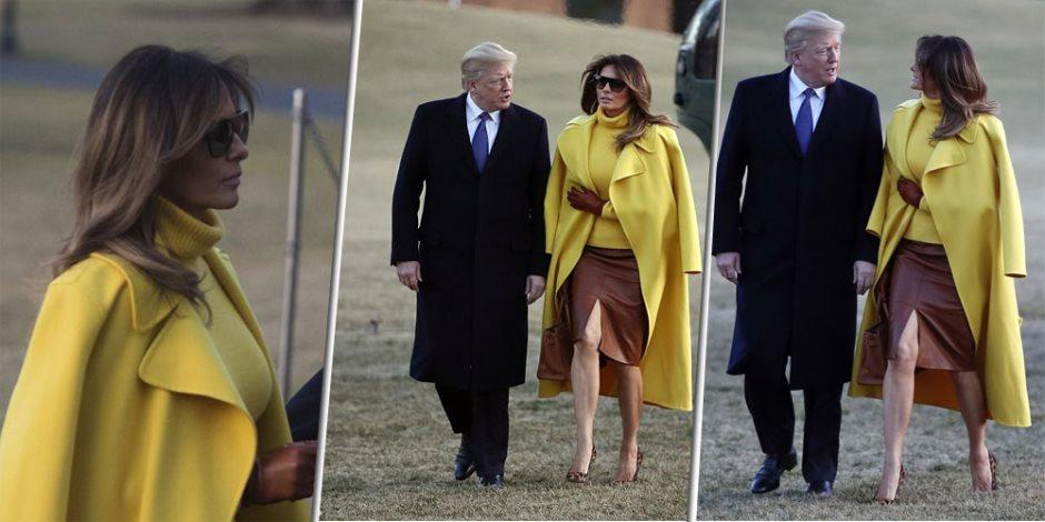 """""""سبيه يمسكها يا فوزية"""".. ميلانيا تحرج ترامب أمام العالم (صور وفيديو)"""