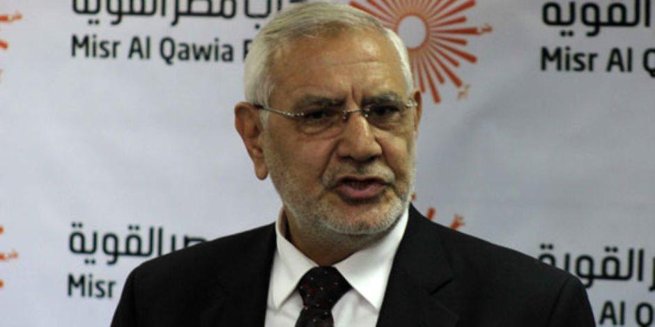 تجديد حبس عبد المنعم أبو الفتوح 15 يوماً في اتهامه بالتحريض ضد الدولة