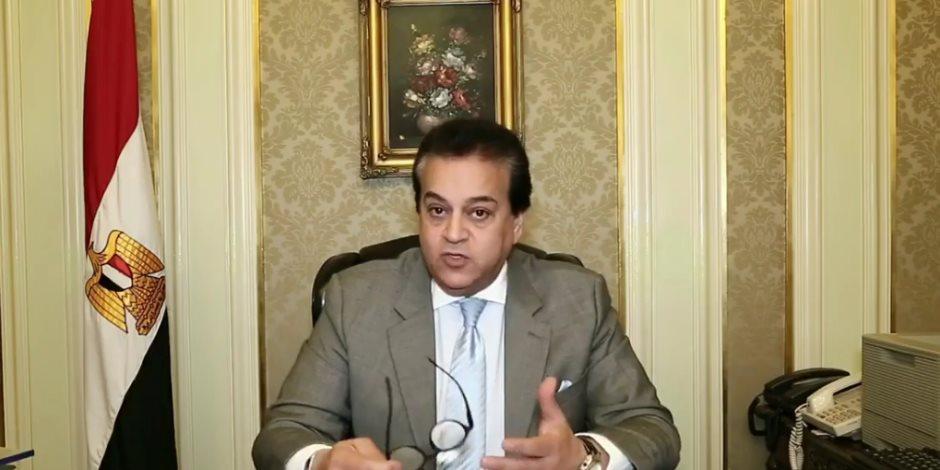 حجرين من وزير التعليم العالي يضعان جامعة أسيوط في مقدمة الجامعات المصرية
