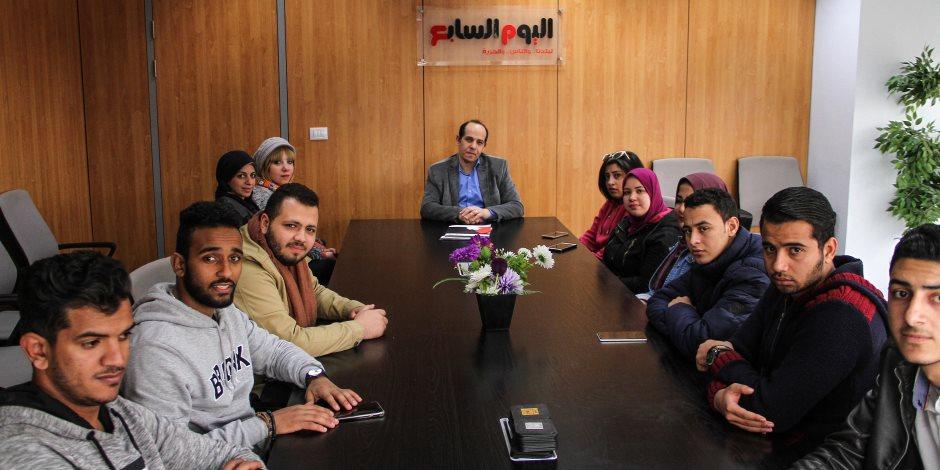 طلاب الجزيرة أكاديمي في زيارة لأكاديمية اليوم السابع (صور)