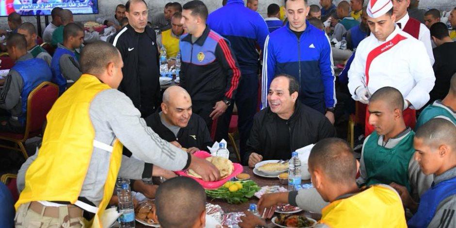 السيسي: هناك إجراءات لم يتم الإعلان عنها للدفاع عن مصر وحماية شعبها