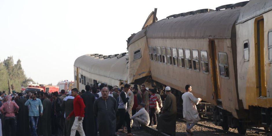 النيابة العامة تكشف عن مفاجأت جديدة فى حادث تصادم قطارى المناشى بالبحيرة