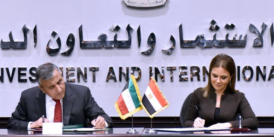 مصر والكويت توقعان 5 اتفاقيات لدعم برنامج تنمية سيناء بقيمة 5 مليارات جنيه