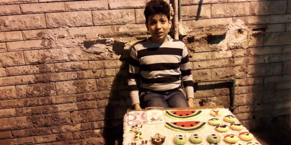 """""""صنع فى الإسكندرية"""".. الطفل أحمد سمير يبتكر منتجات يدوية (صور)"""