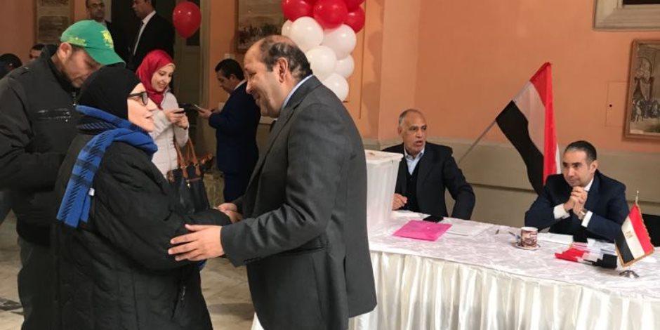 مصر تنتخب الرئيس.. توافد أبناء الجالية المصرية بروما للتصويت في انتخابات الرئاسة
