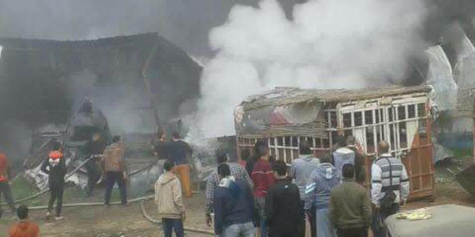 السيطرة على حريق داخل محل موبليا فى السلام دون إصابات
