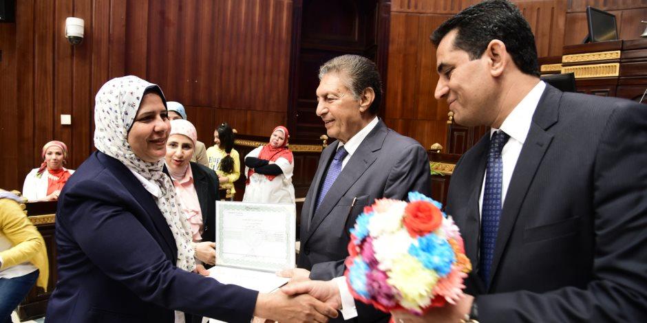 """البرلمان يكرم مديرة تحرير """"اليوم السابع"""" ونائبتين (صور)"""