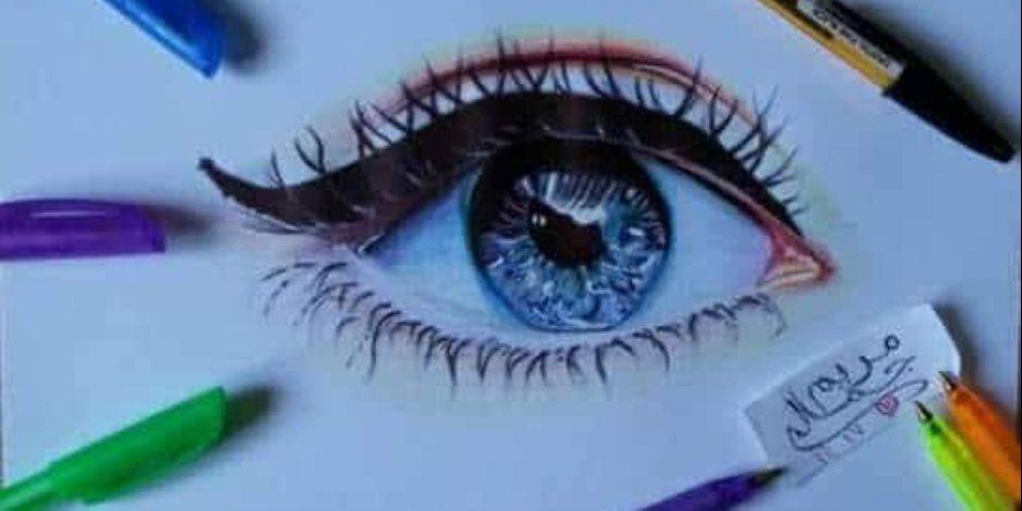 ترى العالم بألوان مختلفة..مريم فنانة اكتشفت موهبتها في الرسم عن طريق الفيس بوك