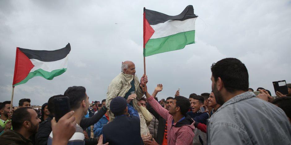 عمال البناء الدنماركيين يتضامنون مع الشعب الفلسطينى