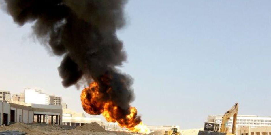 السيطرة على حريق هائل بمقلب قمامة كفر نفره بالمنوفية