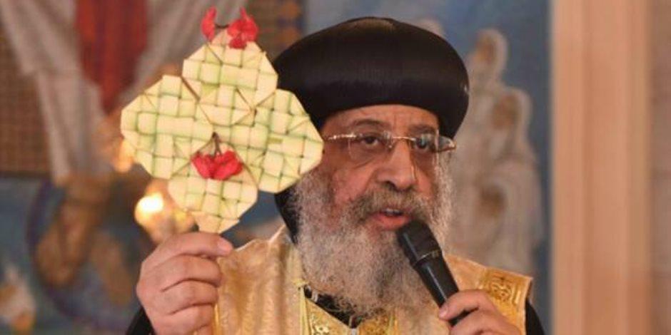 البابا تواضروس يترأس صلوات عيد القديس مارمرقس بالإسكندرية
