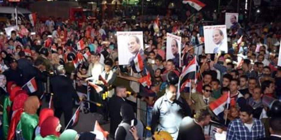 احتفالات بميادين وشوارع الشرقية ابتهاجًا بفوز السيسي بفترة رئاسية ثانية