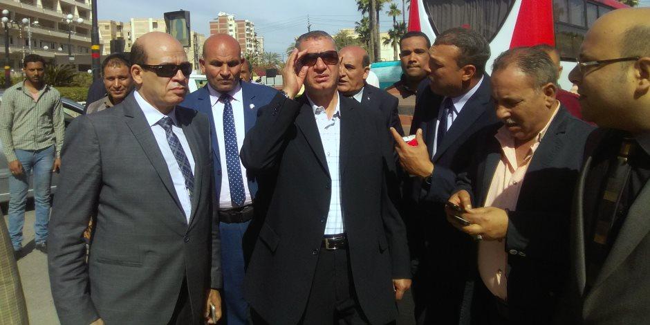 وصول الدفعة الأولى من ميني باصات النقل الجماعي بكفر الشيخ (صور)