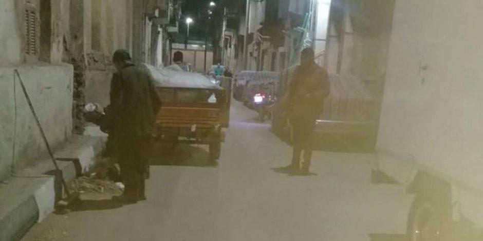 رئيس مدينة الأقصر يستجيب لشكوى مواطن بشارع العسال (صور)