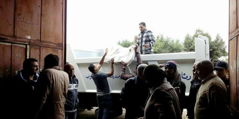رئيس مدينة قليوب تحرر محضرا ضد مفتش تموين بتهمة بيع 12 طن هياكل فراخ فاسدة