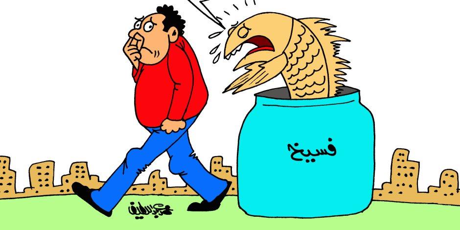 «ريحة المصالحة» في كاريكاتير «صوت الأمة»