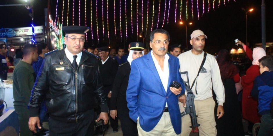 مدير أمن الإسماعيلية فى جولة ليلية على طريق البلاجات (صور)