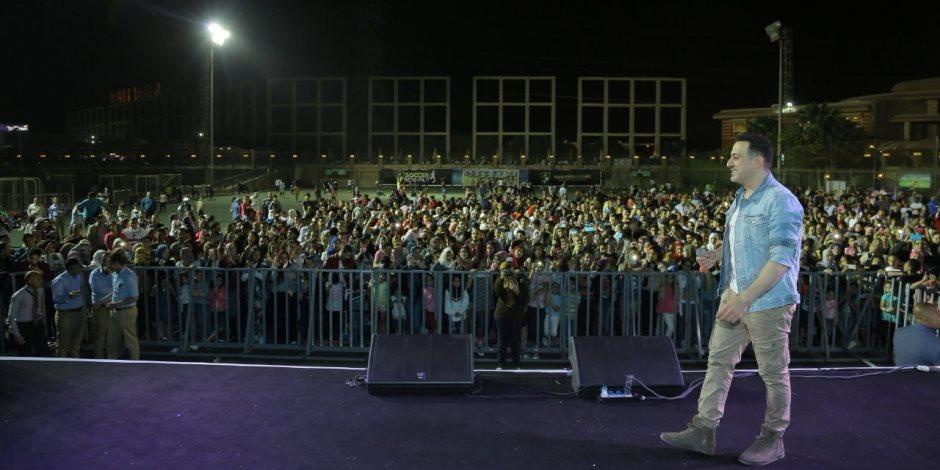 دياب يحيي حفل عيد الربيع بنادي وادي دجلة في أكتوبر (صور)