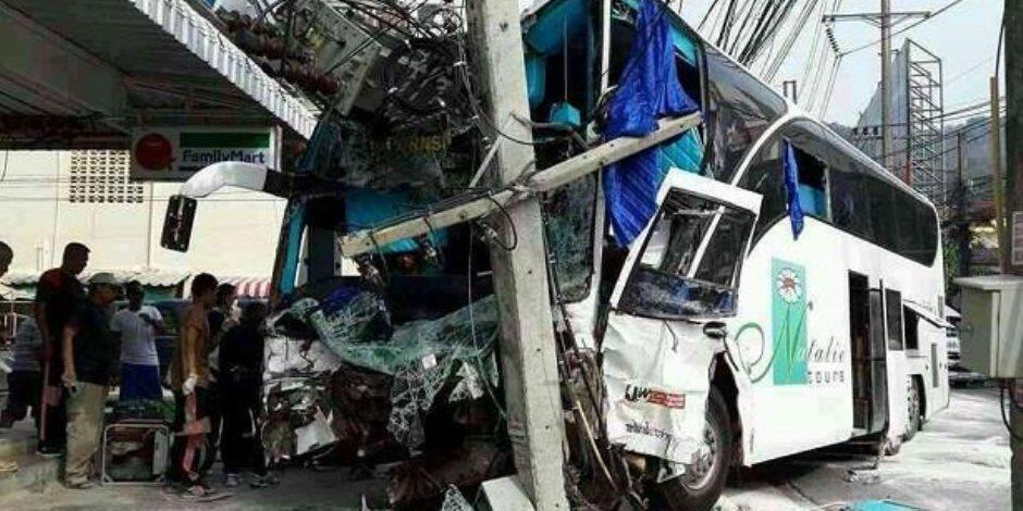 مقتل 6 عمال مهاجرين من ميانمار في تحطم حافلة بتايلاند